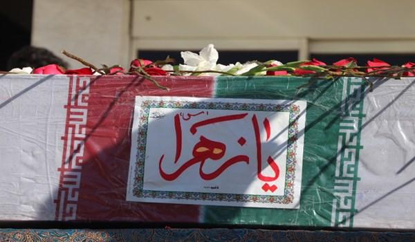 مراسم استقبال از شهید گمنام دفاع مقدس در شهرک صنعتی بزرگ شیراز برگزار شد