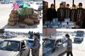 توزیع ماسک رایگان در ورودی شهرک صنعتی بزرگ شیراز به مناسبت هفته بسیج