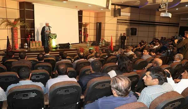 مراسم گرامیداشت هفته دفاع مقدس در شهرک صنعتی بزرگ شیراز با حضور نماینده ولی فقیه در استان فارس
