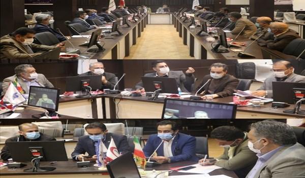 جلسه بررسی مشکلات شهرک صنعتی بزرگ شیراز که با حضور معاون بهره برداری فرمانداری شیراز