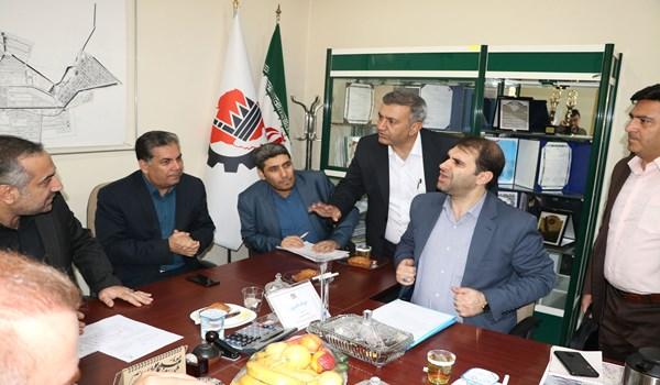جلسه بررسی حل مشکل تصفیه خانه شهرک صنعتی بزرگ شیراز